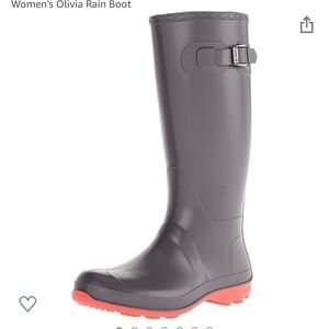 Rain Boots with Fleece Lining